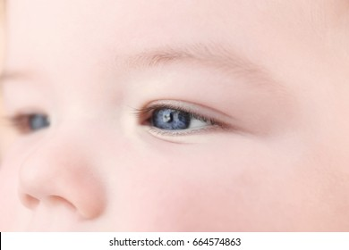 Portrait of cute little baby, closeup