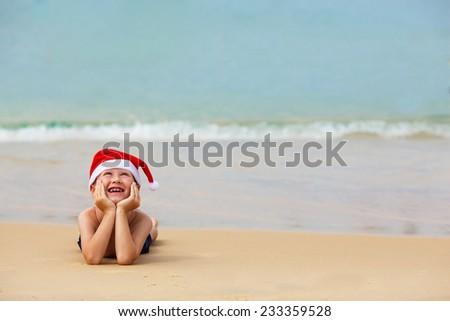 9c8906ffb248d Portrait Cute Little Boy Santa Hat Stock Photo (Edit Now) 233359528 ...