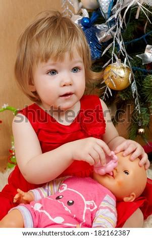 605c18c5e8a1 Portrait Cute Little Girl Red Princess Stock Photo (Edit Now ...