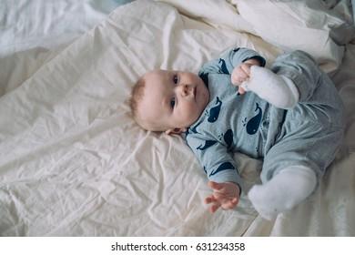 A portrait of a cute newborn baby girl