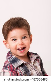 Portrait of cute smiling 2 year old boy