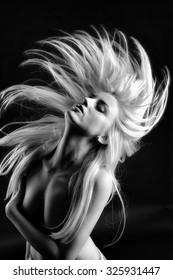 Portrait of dancing girl