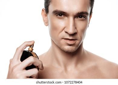 brunette guy showering