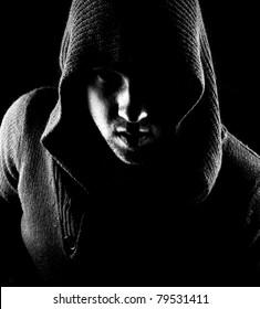 Portrait of the dark side's man