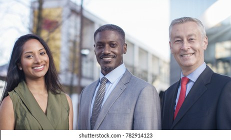 Portrait of diverse successful confident business professionals