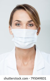 portrait of a doctor with a mask