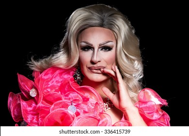 Portrait of Drag Queen, Man Dressed as Woman