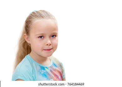 portrait of eight year old girl