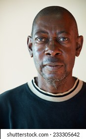 Portrait of an elderly African men