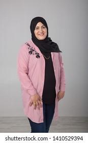 Portrait of an elderly arab woman.