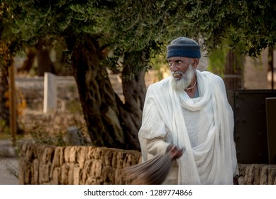 Portrait of an elderly black man. Israel, Ashkelon October 4, 2018