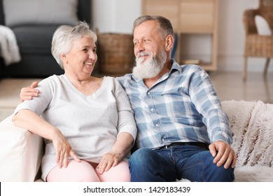 Portrait of elderly couple in nursing home