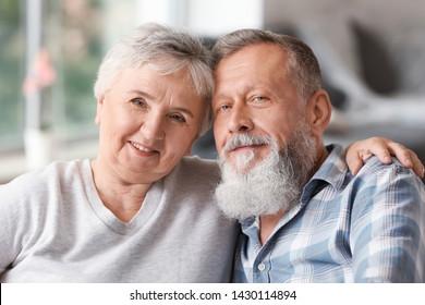 Portrait of elderly couple in nursing home