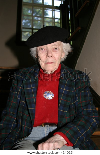 portrait elderly woman