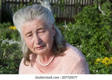 Portrait of an elderly woman beautiful