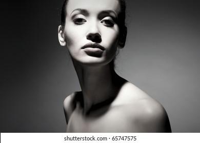 Portrait of elegant brunette woman