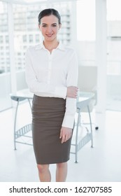 Portrait of an elegant businesswoman standing in a bright office