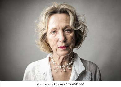 Portrait of elegant lady
