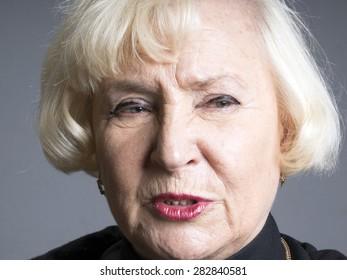 Portrait of elegant senior woman