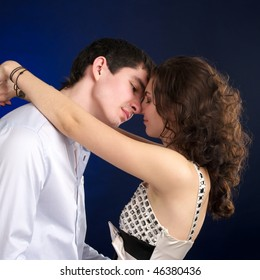 Portrait of embracing beautiful sexual couple