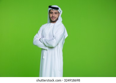 Portrait of Emirati businessman with arms crossed