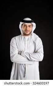 Portrait of Emirati man with arms crossed