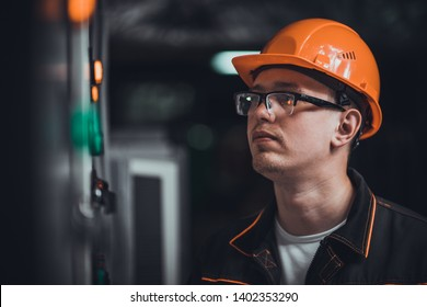 portrait of an energy engineer at work