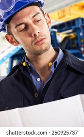 Portrait of an engineer in a factory