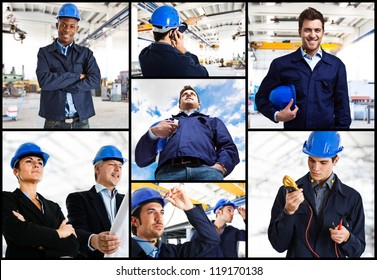 Portrait of engineers at work