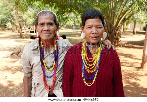 Portrait ethnic group Lawae, Laos