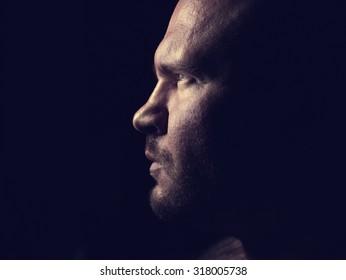 Portrait of a evil man