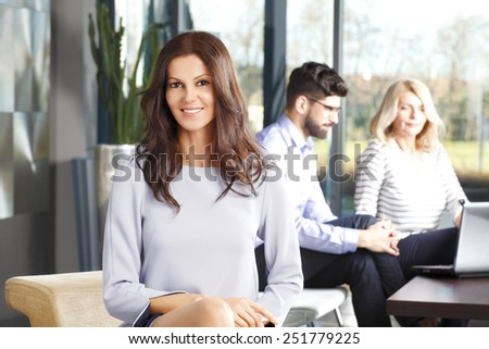 Executive mature women and boys