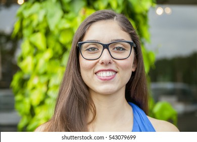 portrait of expressive beautiful girl outdoors