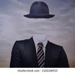 portrait of a faceless man