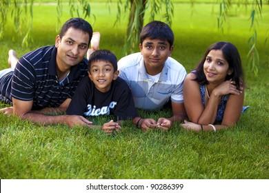 Portrait of a family.
