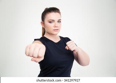 太った大人の女性の親指