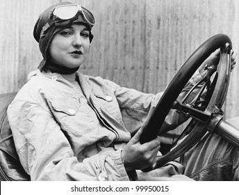 Portrait of female driver