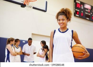 Portrait Of Female High School Basketball Player