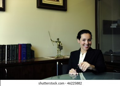 portrait of a female lawyer at office