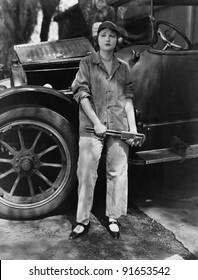 Portrait of female mechanic