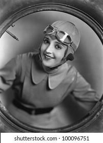 Portrait of female pilot