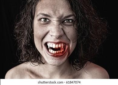 portrait of a female vampire