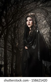 Portrait of a female vampire - Halloween theme.