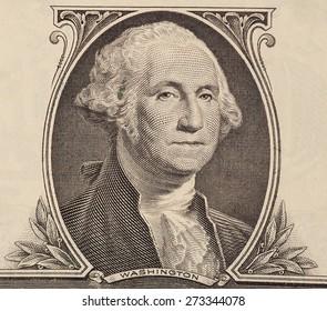 Portrait of first U.S. president George Washington