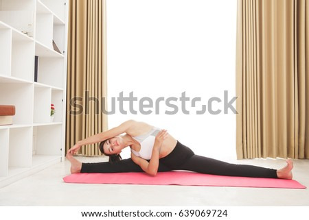 e113e5c7ded7 Portrait Flexible Sporty Girl Doing Yoga Stock Photo (Edit Now ...