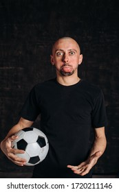 portrait of a football fan, saddened by a loss .