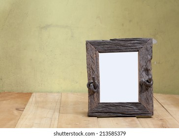 portrait frame on the table