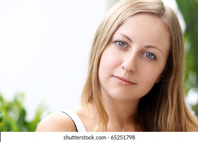 Portrait of fresh young woman