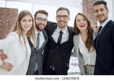 portrait of a friendly business team