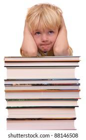Portrait of a frustrated young preschool boy
